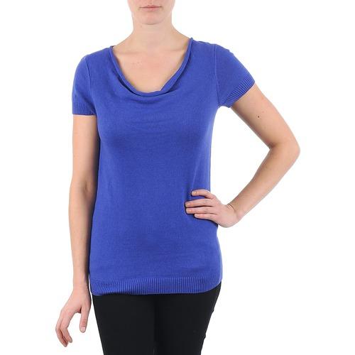 Clothing Women short-sleeved t-shirts La City PULL COL BEB Blue