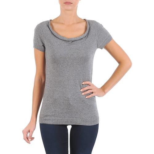 Clothing Women short-sleeved t-shirts La City PULL COL BEB Grey