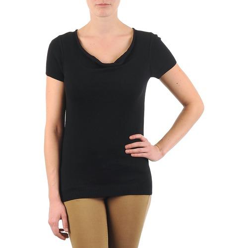Clothing Women short-sleeved t-shirts La City PULL COL BEB Black