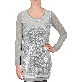 Clothing Women Tunics La City PULL SEQUINS Grey