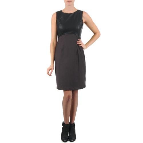Clothing Women Short Dresses La City RTANIA Black / Grey