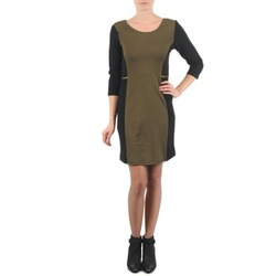 Clothing Women Short Dresses La City ROKAMIL KAKI / Black
