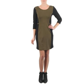 Clothing Women Short Dresses La City ROKAMIL KAKI / Black