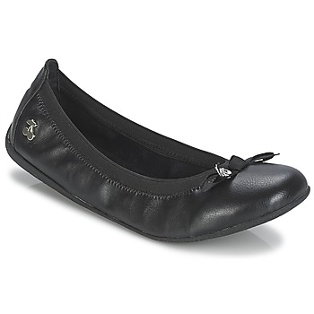 Shoes Women Flat shoes Le Temps des Cerises LILOU Black