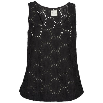 Clothing Women Tops / Sleeveless T-shirts Stella Forest ADE007 Black