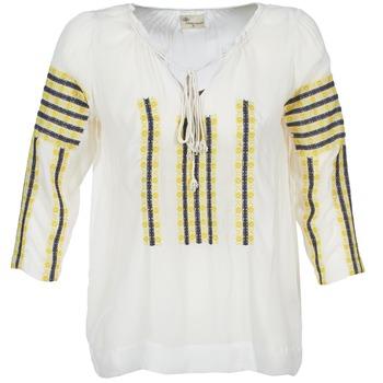 Clothing Women Tops / Blouses Stella Forest ATU025 White / Grey / Yellow
