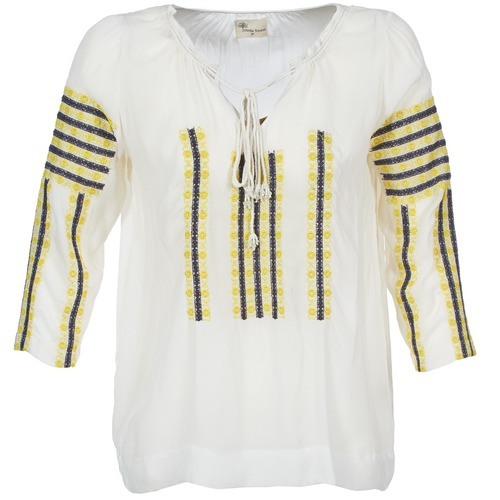 Clothing Women Tops / Blouses Stella Forest ATU025 White / Grey / Yellow