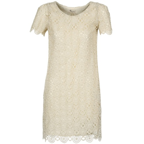 Clothing Women Short Dresses Stella Forest ARO051 Ecru / Gold