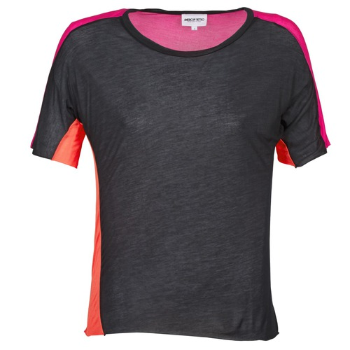 Clothing Women short-sleeved t-shirts American Retro CAROLE Black / Pink