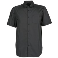 Clothing Men Short-sleeved shirts Volcom EVRETT SOLID SS Black