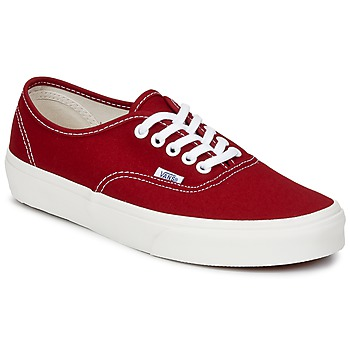 Shoes Low top trainers Vans AUTHENTIC Red / White