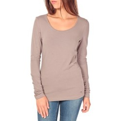 Clothing Women Long sleeved tee-shirts Tom Tailor Lara Stretch Longsleeve Taupe Brown