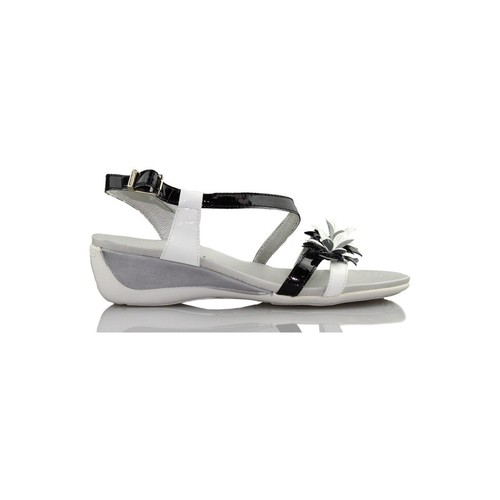 Shoes Women Sandals CallagHan patent leather wedge sandal BLACK