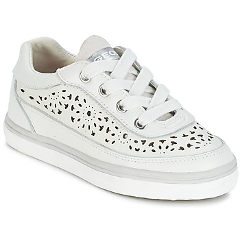 Shoes Girl Low top trainers Geox CIAK G. H White
