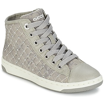 Shoes Girl Hi top trainers Geox CREAMY B BEIGE