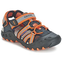 Shoes Boy Outdoor sandals Geox SAND.KYLE C MARINE / Orange