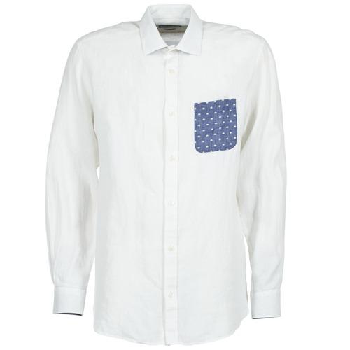 Clothing Men Long-sleeved shirts Serge Blanco CHACA White
