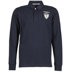 Clothing Men long-sleeved polo shirts Serge Blanco RUGBY LEAGUE Marine