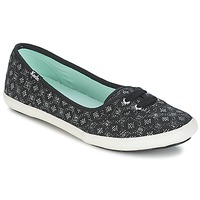 Shoes Women Flat shoes Keds TEACUP DIAMOND DOT Black / Silver