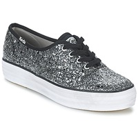 Shoes Women Low top trainers Keds TRIPLE GLITTER Black