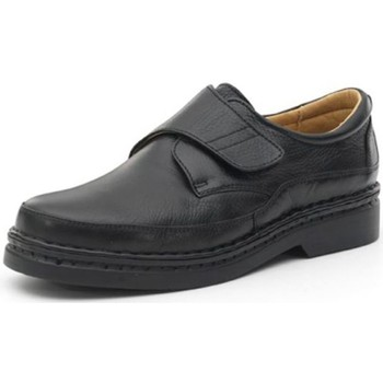 Shoes Men Derby Shoes Calzamedi comfortable shoes with Velcro sewn by hand BLACK