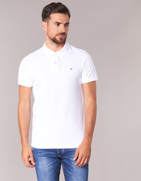 Clothing Men Short-sleeved polo shirts Tommy Jeans ORIGINAL FLAG POLO White