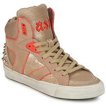 Shoes Women Hi top trainers Ash SPIRIT Beige / Gold / Orange