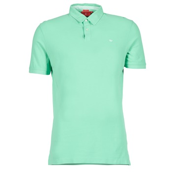 Clothing Men short-sleeved polo shirts Vicomte A. GARMENT DYE Green