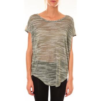 Clothing Women short-sleeved t-shirts Dress Code Top à sequins R5523 vert Green