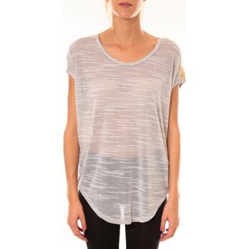 Clothing Women short-sleeved t-shirts Dress Code Top à sequins R5523 gris Grey