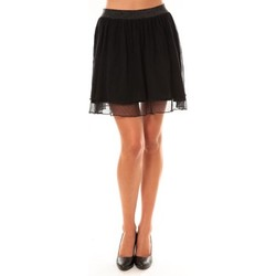Clothing Women Skirts Coquelicot Jupe courte 15107/099 noir Black