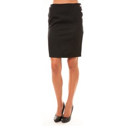 Clothing Women Skirts Dress Code Jupe D1452 noir Black
