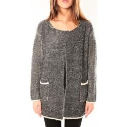 Clothing Women Jackets / Cardigans De Fil En Aiguille Gilet Victoria & Karl Gris chiné Grey
