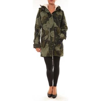 Clothing Women Parkas Desigual Doudoune Drucilla 57E29X7 kaki Green