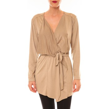 Clothing Women Jackets / Cardigans La Vitrine De La Mode By La Vitrine Cardigan asymétrique Lola beige Beige