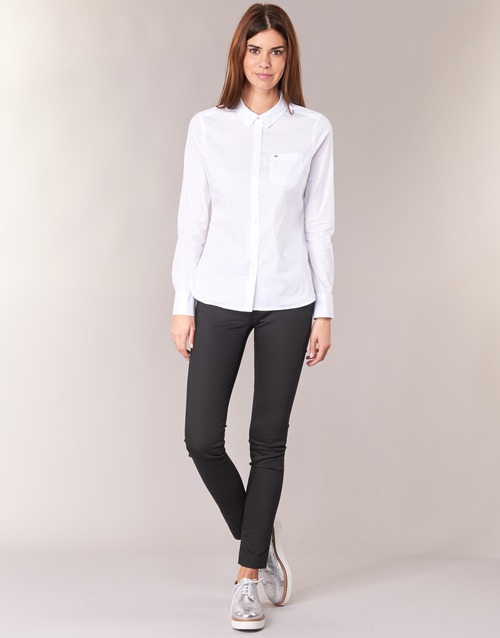Clothing Women 5-pocket trousers Tommy Hilfiger MARTA Black
