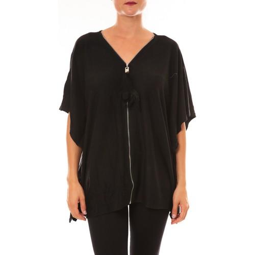 Clothing Women Short-sleeved t-shirts De Fil En Aiguille Cardigan MC1209 noir Black