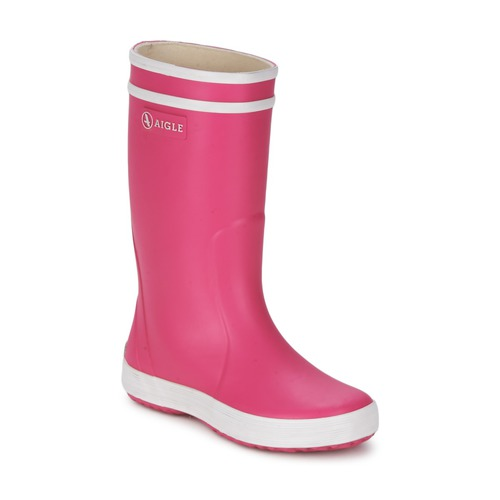Shoes Girl Wellington boots Aigle LOLLY-POP Pink / White