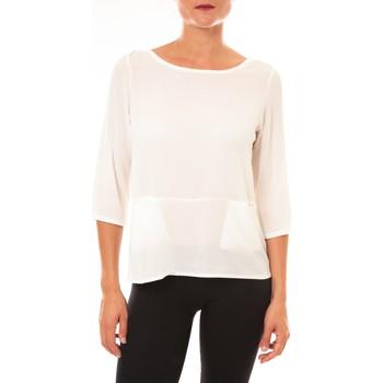 Clothing Women Long sleeved tee-shirts La Vitrine De La Mode By La Vitrine Top K598 blanc White