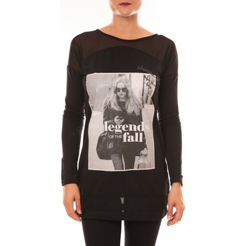 Clothing Women Long sleeved tee-shirts La Vitrine De La Mode Tee Shirt Manches Longues MC1919 noir Black