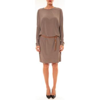 Clothing Women Short Dresses Dress Code Robe 53021 taupe Brown