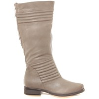 Shoes Women High boots Ilario Ferucci Bottes en cuir Gaelane taupe Brown