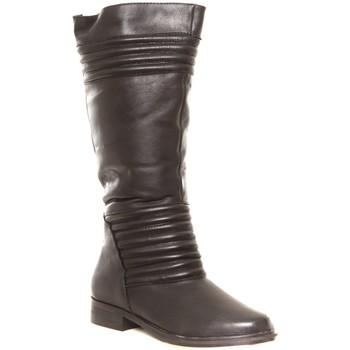 Shoes Women Wellington boots Cassis Côte d'Azur Ilario Ferucci Bottes en cuir Galeane noir Black