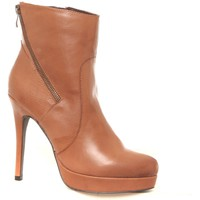 Shoes Women Ankle boots Ilario Ferucci Bottines en cuir Gicanda camel Brown