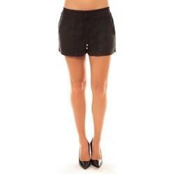 Clothing Women Shorts / Bermudas La Vitrine De La Mode By La Vitrine Short Y536 noir Black