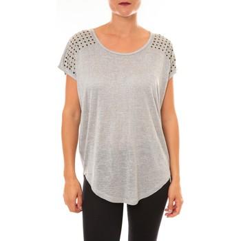 Clothing Women short-sleeved t-shirts La Vitrine De La Mode By La Vitrine Top C2163 gris Grey