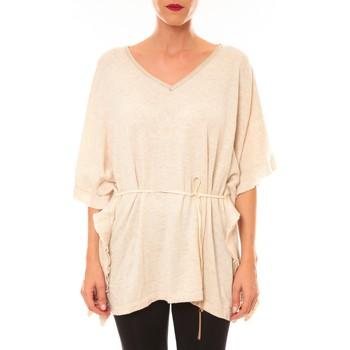 Clothing Women short-sleeved t-shirts La Vitrine De La Mode By La Vitrine Pull MC3120 beige Beige