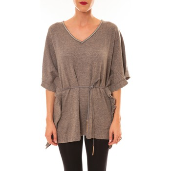 Clothing Women short-sleeved t-shirts La Vitrine De La Mode By La Vitrine Pull MC3120 gris foncé Grey