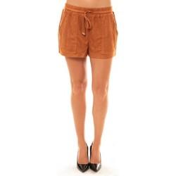 Clothing Women Shorts / Bermudas La Vitrine De La Mode By La Vitrine Short Y536 camel Brown