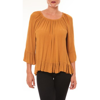 Clothing Women Tops / Blouses By La Vitrine Blouse Giulia moutarde Yellow